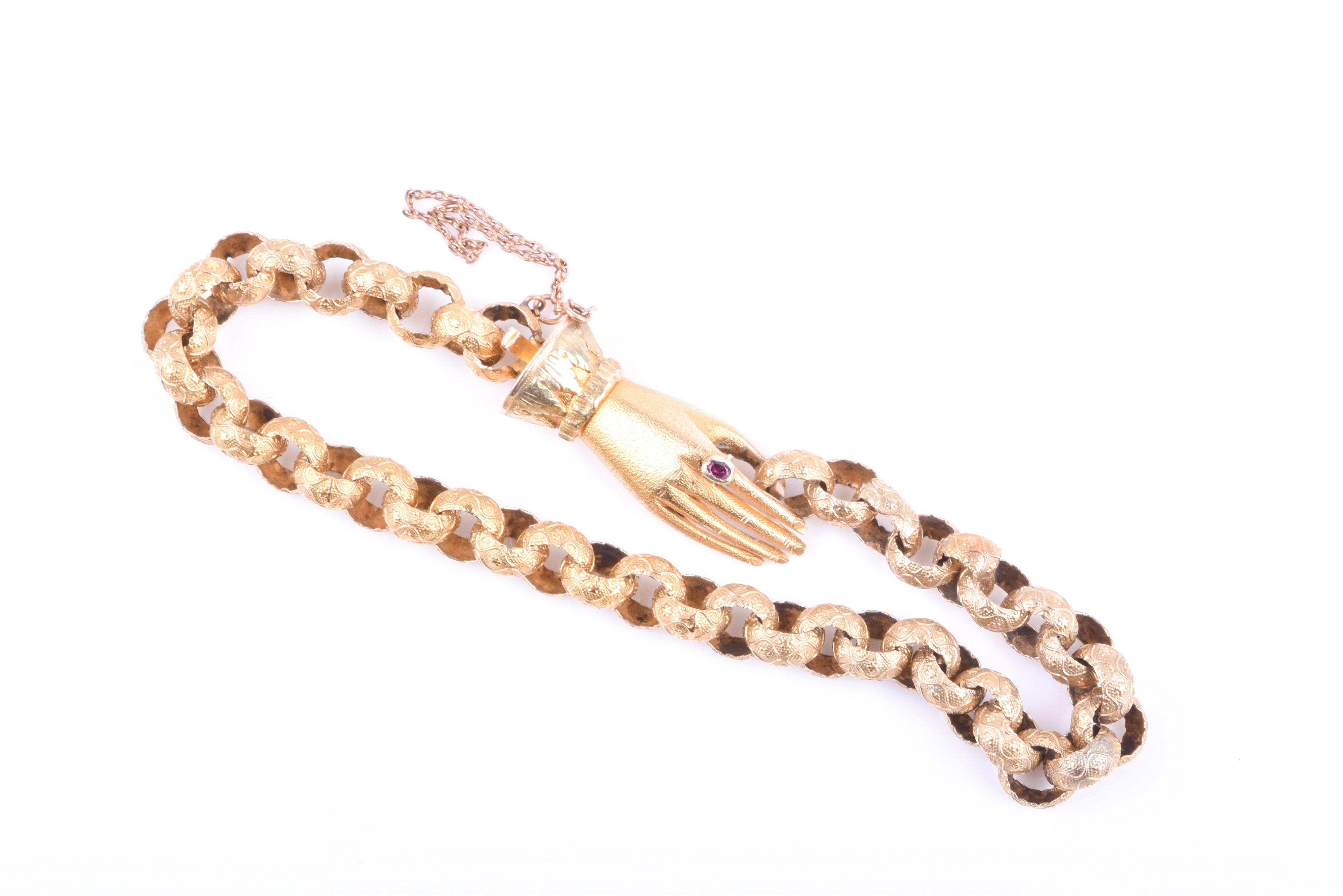 A late Georgian yellow gold fancy link bracelet