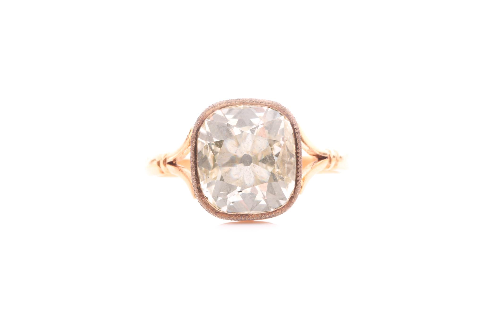 a Georgian style diamond ring