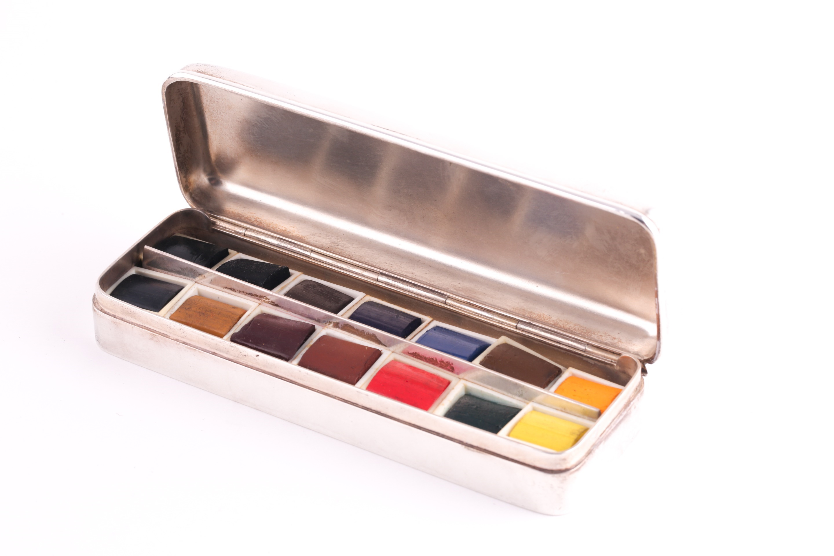 Artists silver travelling palette