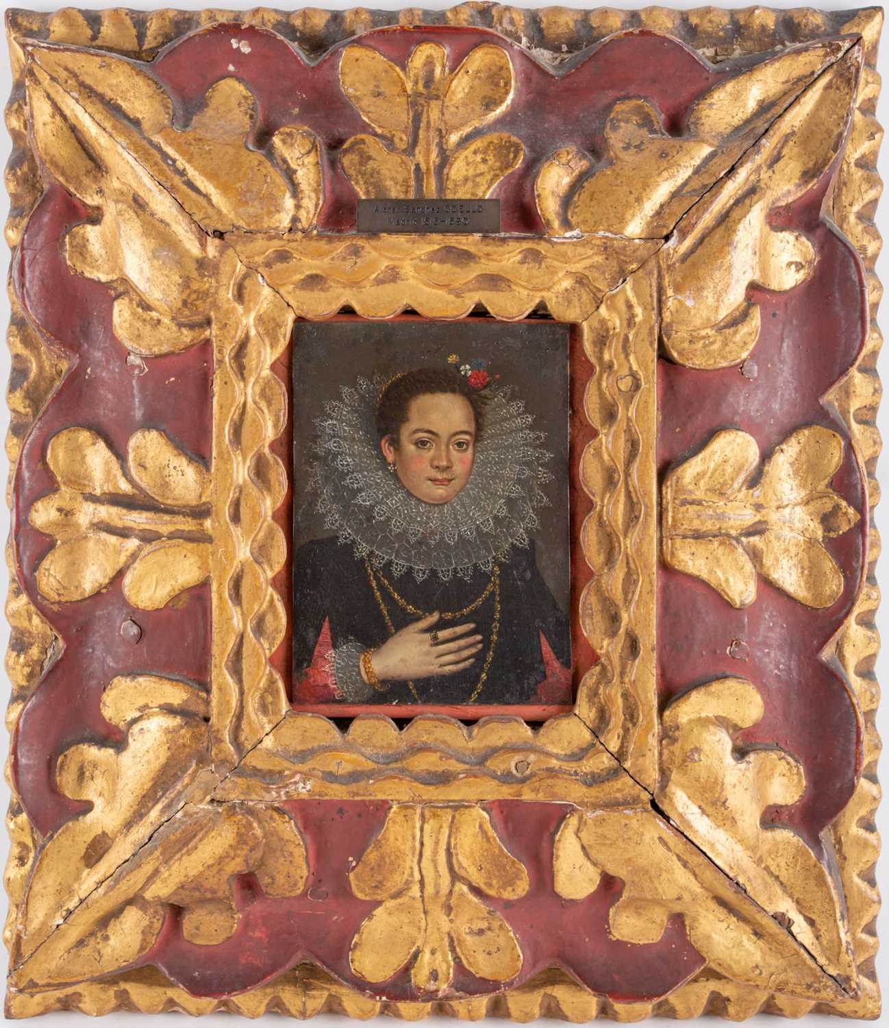Alonso Sanchez Coello Spanish portrait noblewoman oil on copper