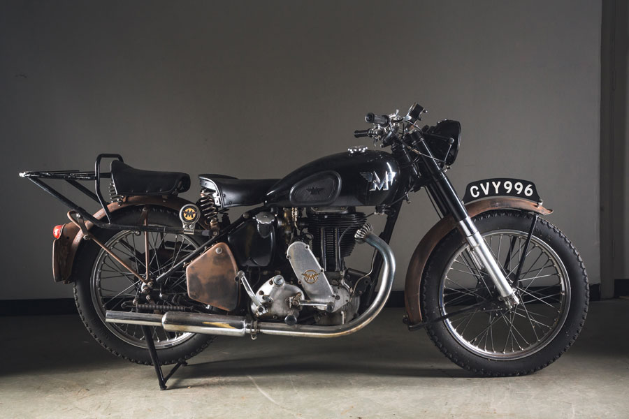 A 1947 Matchless 500cc motorcycle