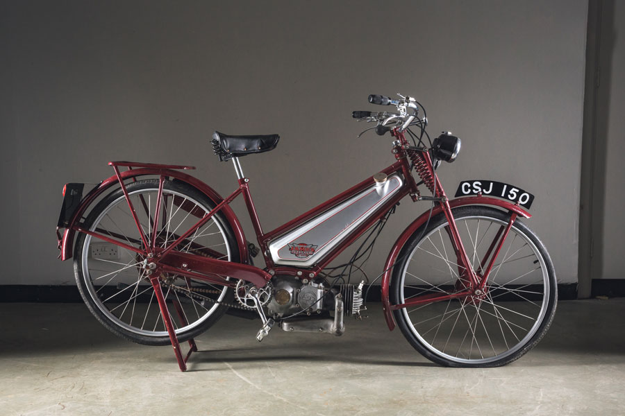 A James maroon Autocycle