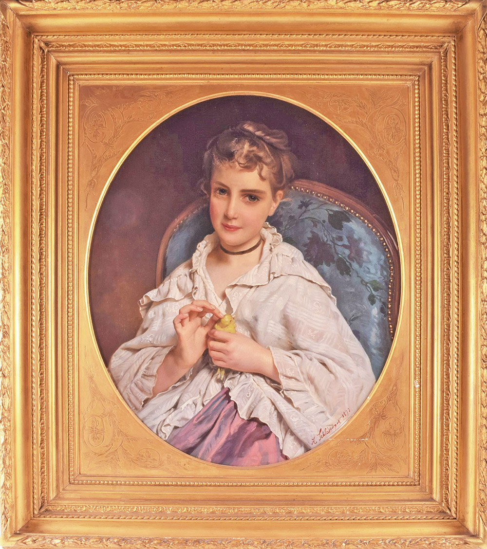 Henri Guillaume Schlesinger (1814-1893) German  'The Pet Canary', sold £7,600