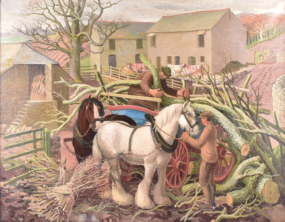Gerald Cooper RA (1898-1975) British 'The Woodcutters', sold for £12,500