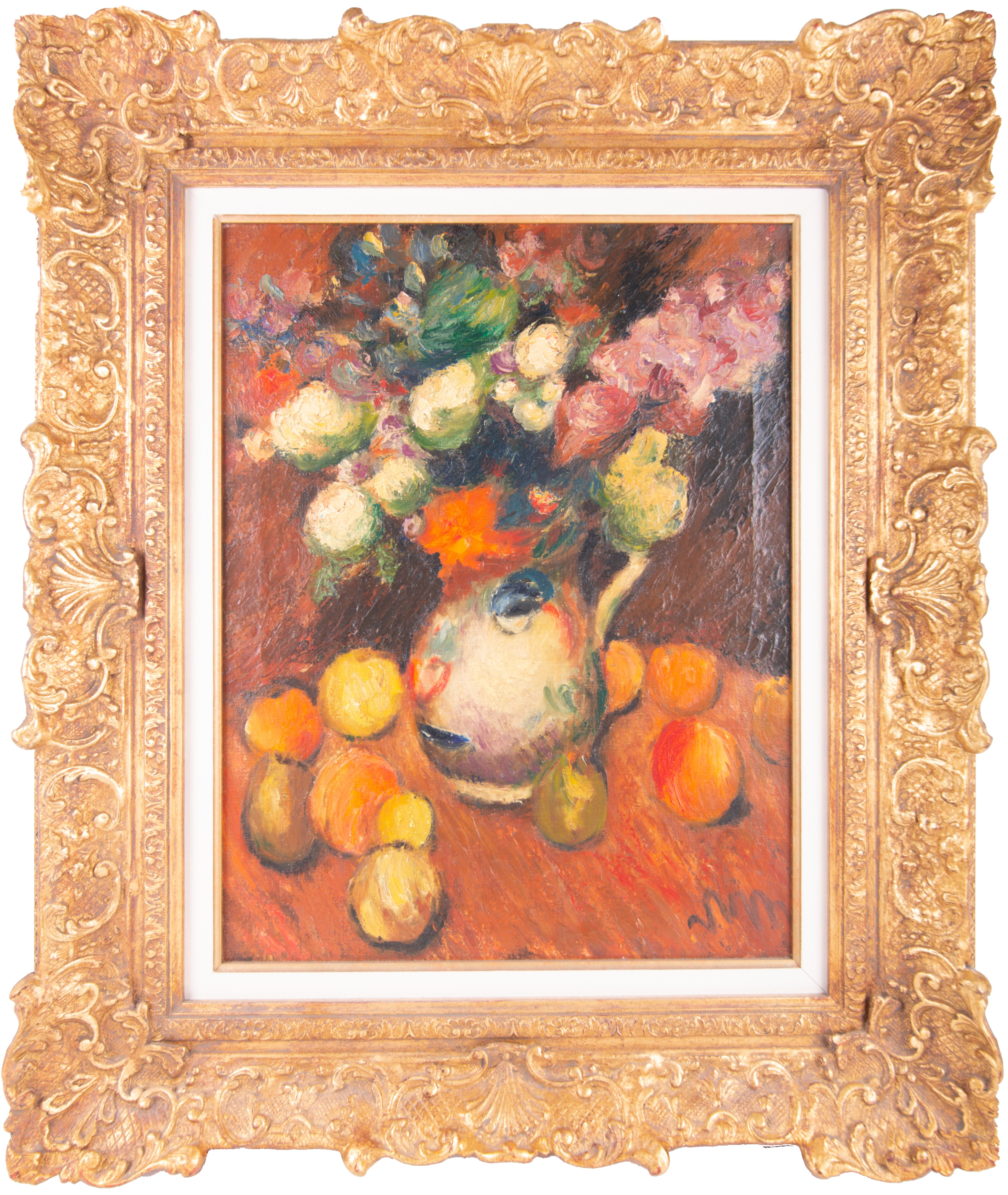 Sir Matthew Smith CBE (1879-1959) Still life with fruit and flowers. Sold for £10,500