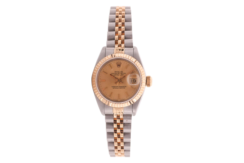 A 1990 ladies Rolex DateJust Rolesor