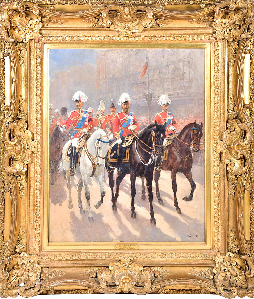 Georges Bertin Scott (1873-1943) French 'George V In Procession', sold for £3,500