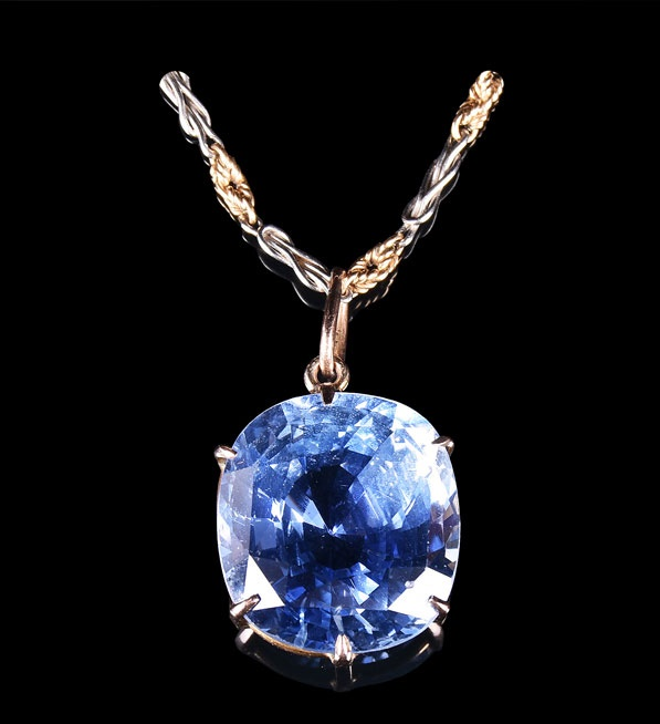 A 30 carat natural Madagascan sapphire. Sold for £40,000