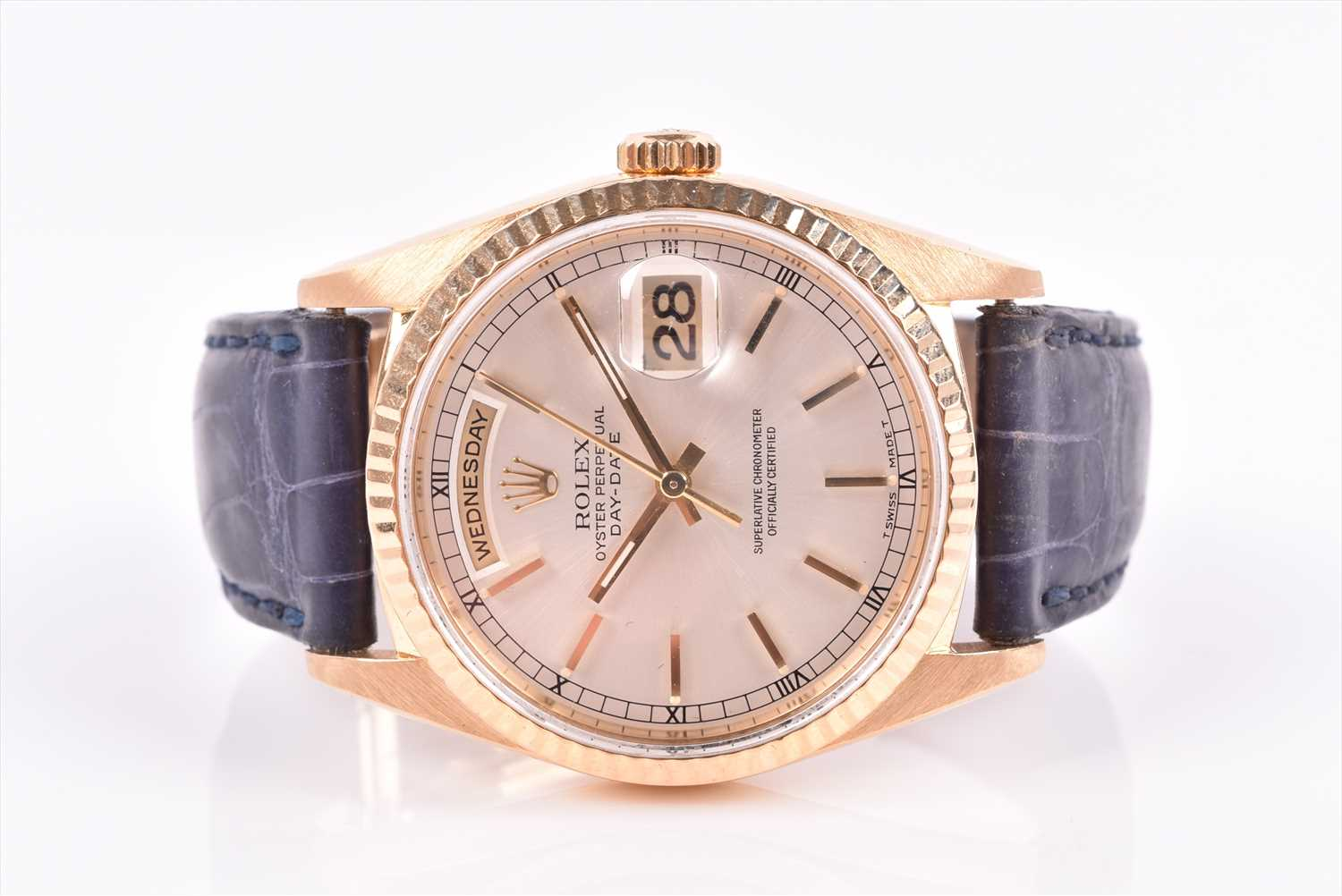 Lot 445-A Rolex Oyster Perpetual Day Date ref. 18238 18ct ...