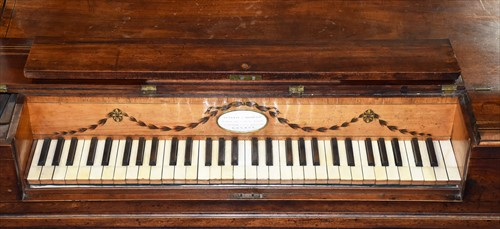 Lot 17-An 18th century square piano by Longman &...