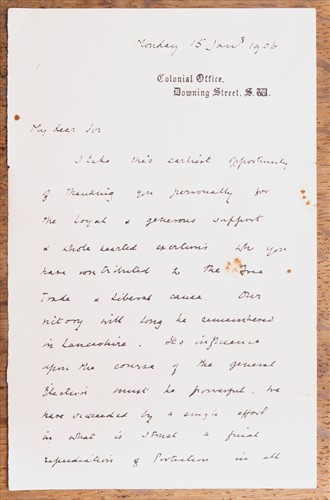 Lot 237-Churchill, Winston S letter (1874-1965); a...