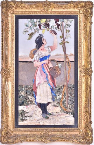 Lot 320-A 19th century Italian pietra dura plaque...