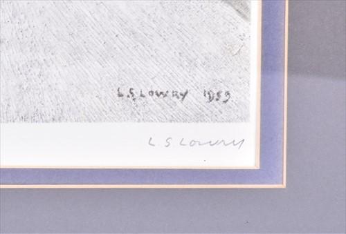 Lot 107-Laurence Stephen Lowry RBA RA (1887-1976)...