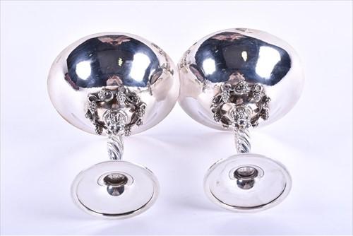 Lot 471-A pair of Georg Jensen Danish silver tazzas...