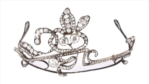Lot 555-A late 19th / early 20th century diamond tiara of ...