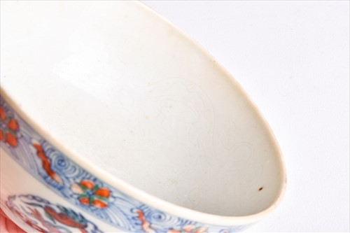 Lot 121 - A pair Chinese of porcelain doucai 'dragon'...
