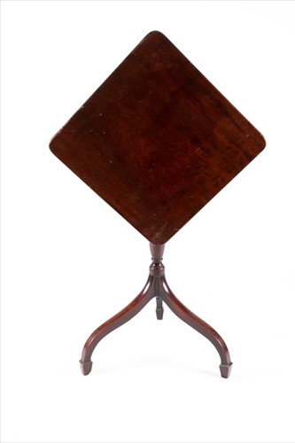 Lot 91-A 19th century mahogany tilt top occasional table ...