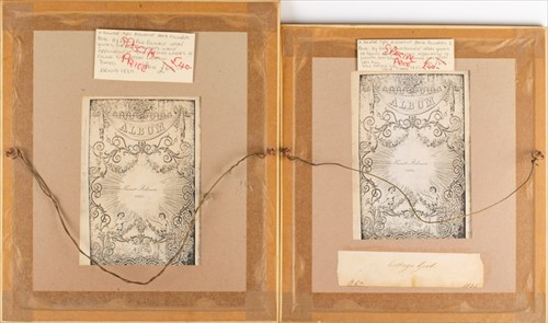 Lot 43-English School, 19th century A pair of hand...