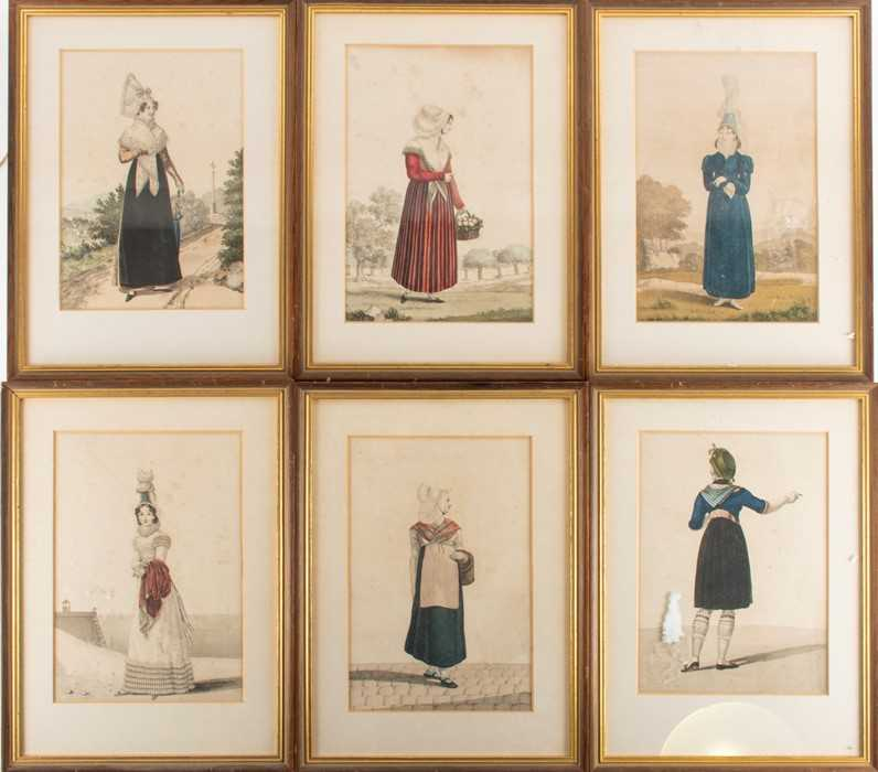 Lot 44-French School, 19th century a group of six hand...