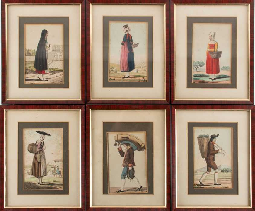 Lot 40-French School, 19th century a group of six hand...