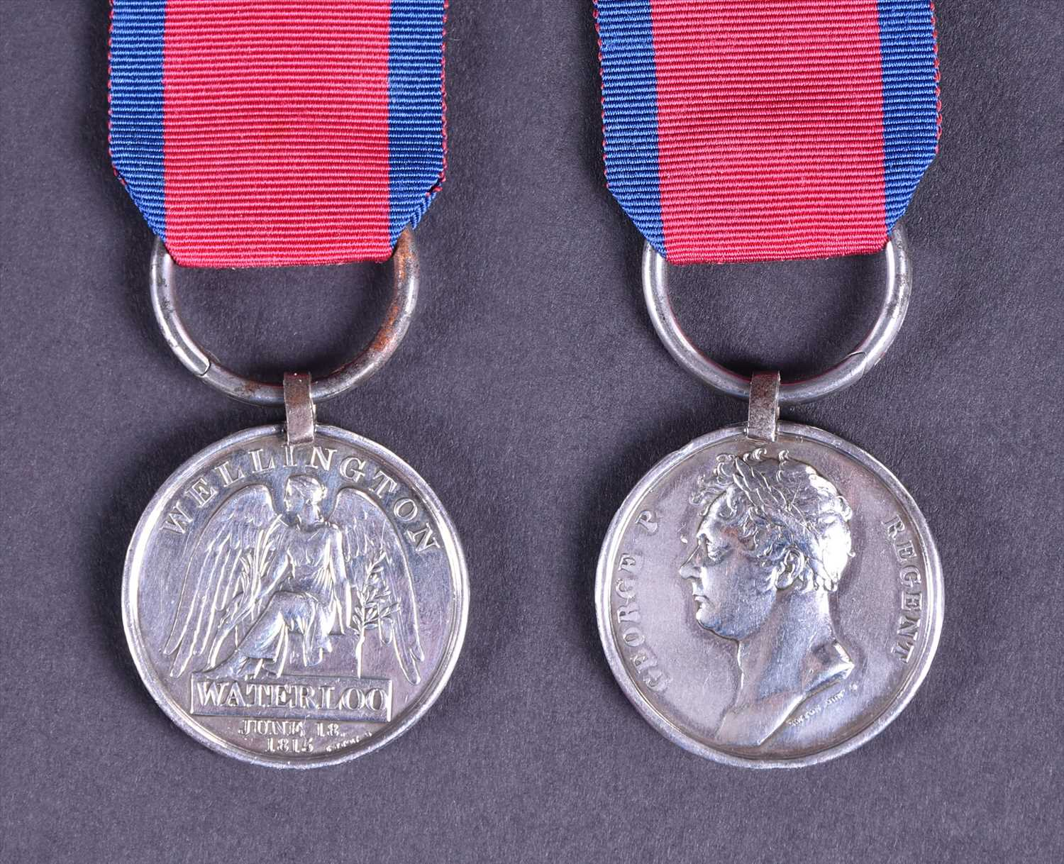 Lot 375-A Waterloo Cavalry medal to Thomas Dickman, 7th...