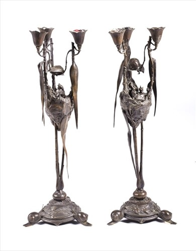 Lot 260-August Nicholas Cain (1822-1894) French a pair of ...
