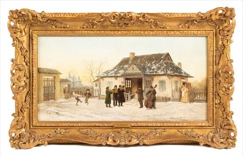 Lot 4-Franciszek Streitt (1839-1890) Polish depicting...