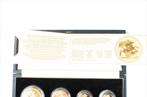 Lot 280 - An Elizabeth II gold proof coin set comprising...