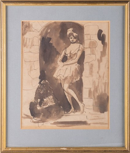 Lot 67-Augustus John (1878-1961) Welsh depicting a young ...