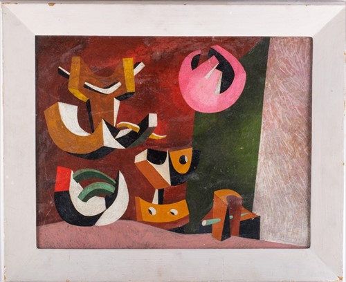 Lot 35-Alan Milner (1910-1984) English 'Composition 2',...
