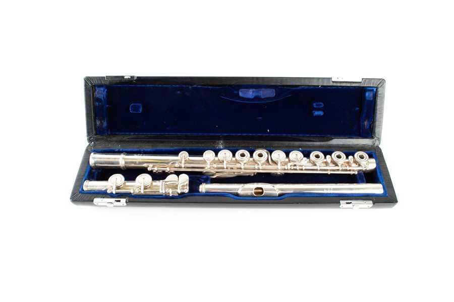 Lot 244-A Verne O. Powell flute engraved 'Verne O....