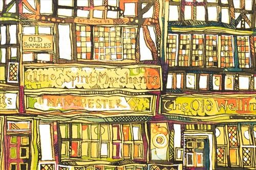 Lot 14-Pat Cooke (1935-2000) British 'Old Shambles'...