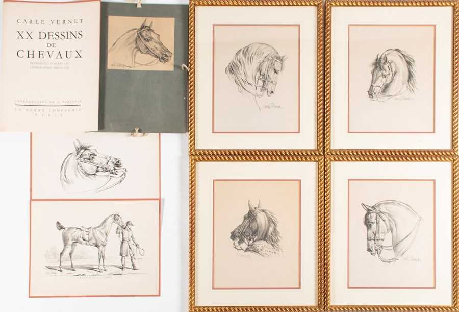 Lot 50-After Carle Vernet (1758-1836) French four...