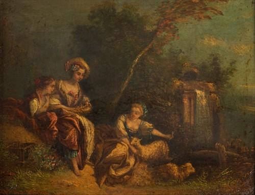 Lot 16-Follower of Jean Antoine Watteau, 19th century...