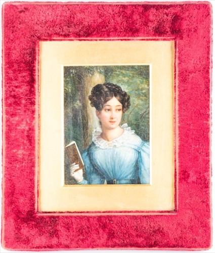 Lot 20-English School, 19th century depicting a portrait ...