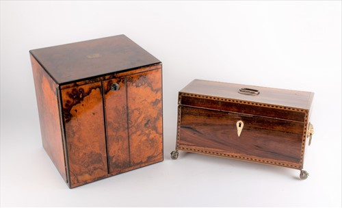 Lot 97-A 19th century burr walnut collectors or...