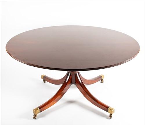 Lot 98-A Georgian style mahoganyextending circular...