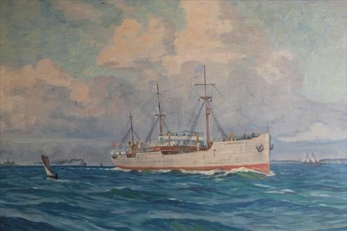 Lot 17-Wilfred Peter Glud (1872-1946) Danish 'Selandia'...