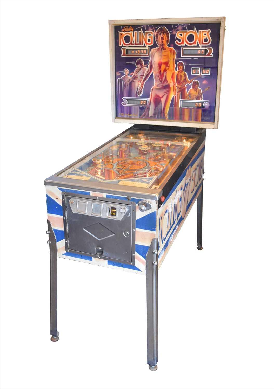 Lot 184-A rare Rolling Stones Bally 1980 pinball...