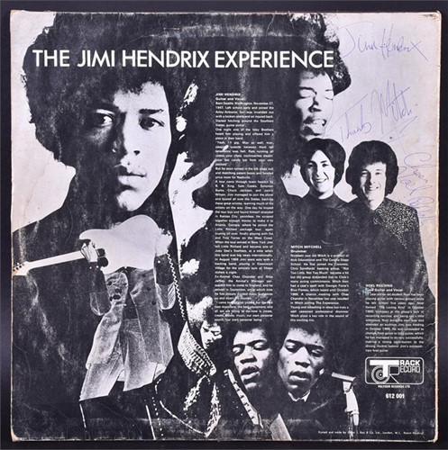 Lot 112 - Jimi Hendrix, 'Are you Experienced' signed on...