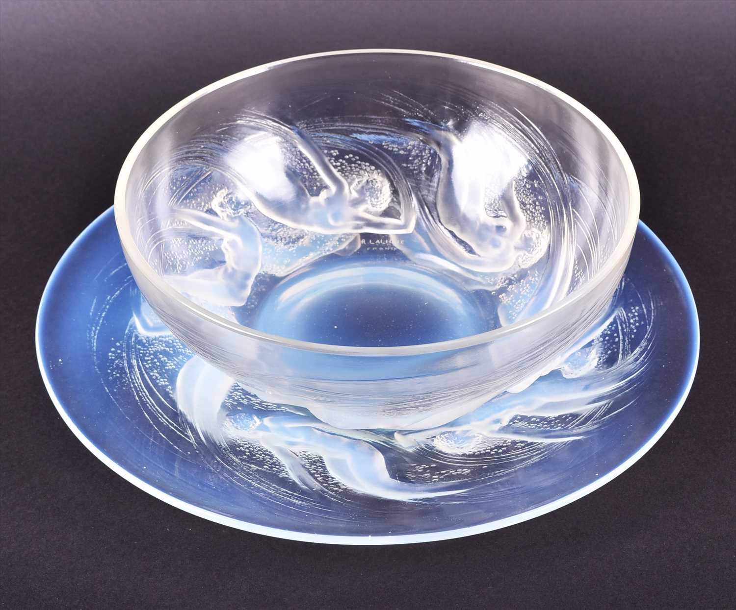 Lot 514-A Lalique Ondines opalescent glass bowl and...