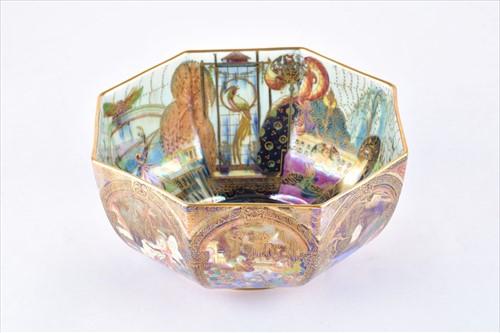 Lot 172-A rare Wedgwood Fairyland Lustre octagonal bowl...