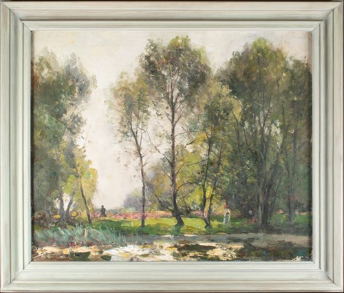 Lot 37-John Noble Barlow (1861-1917) English 'Spring...