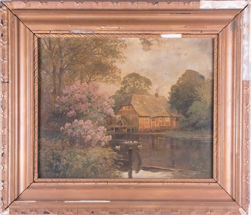 Lot 9-Alois Arnegger (1879-1967) Austrian depicting a...
