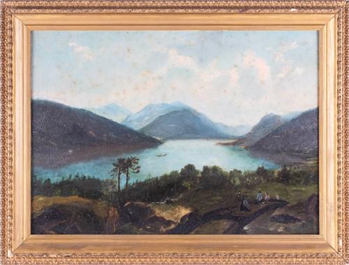 Lot 11-Hudson River School, 19th century depicting a...