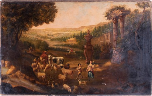 Lot 15-Manner of Nicolaes Berchem (1620-1683) Dutch...