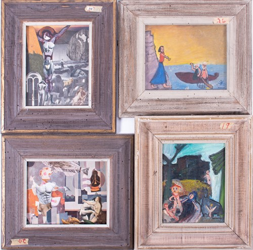 Lot 31-Two 20th century collage artworks by the same...
