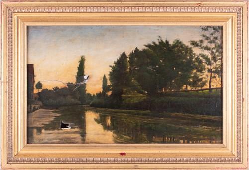 Lot 19-Attributed karl Pierre Daubigny (1846-1886)...