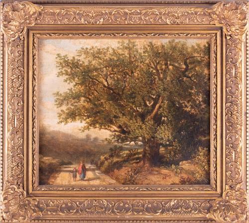 Lot 41-Barbizon School, 19th century. Follower of...