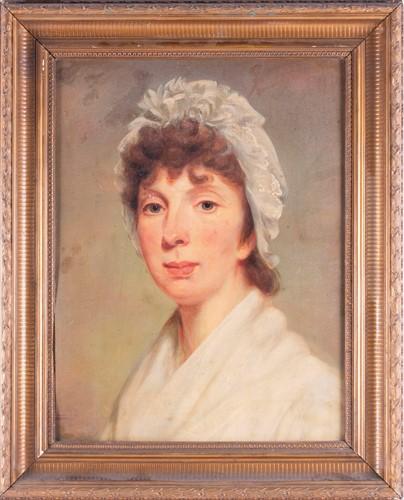 Lot 25-English School, 19th century portrait of a...
